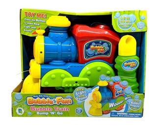 Tren Burbujero Luz Y Sonido Bubble Fun Colores En Fuga Kids