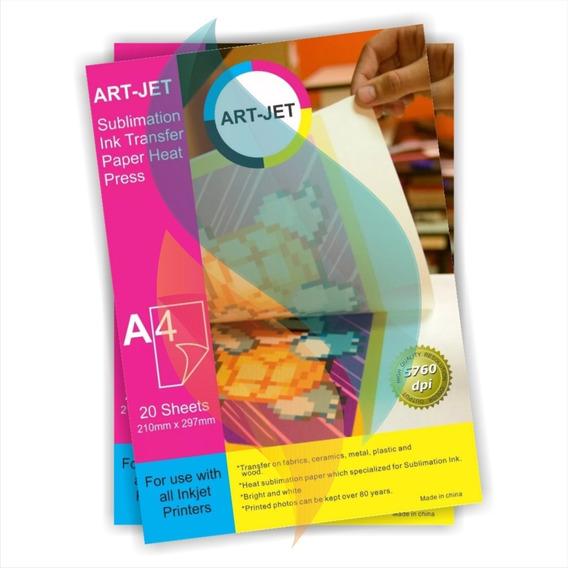 Papel Sublimacion Específico A4 Art Jet X100 Hojas Premium