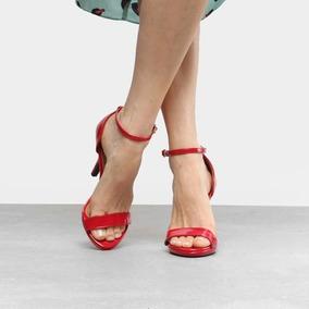 670599745 Vizzano Sandalia De Festa Vermelha Feminino - Sapatos com o Melhores ...