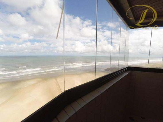Apartamento Mobiliado De 3 Quartos Frente Ao Mar Para Locação Definitiva Em Praia Grande!!! - Ap2179