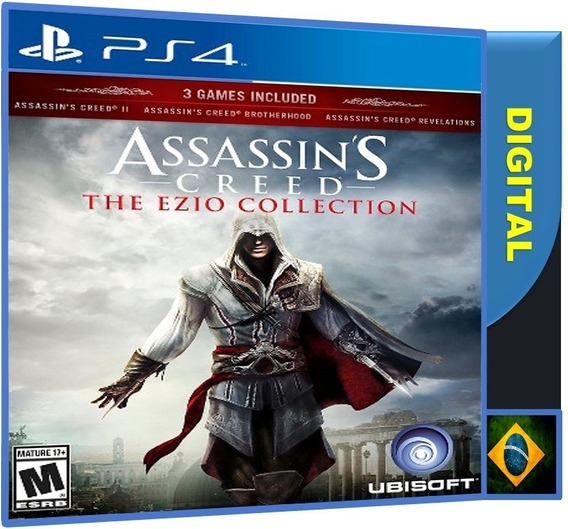 Assassins Creed 2 + Brotherhood + Revelat Ps4 2ª Digital Psn