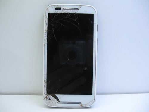 Motorola Moto E1 Xt1021 Não Liga Touch Trincado Ver Fotos