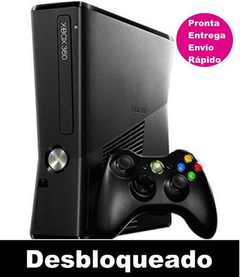 Xbox 360 Slim Desbloqueado C/ 1 Controle Pronta Entrega