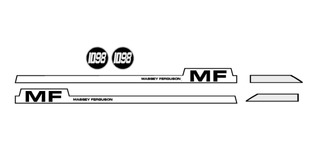 Juego De Calcos Tractor Massey Ferguson 1098