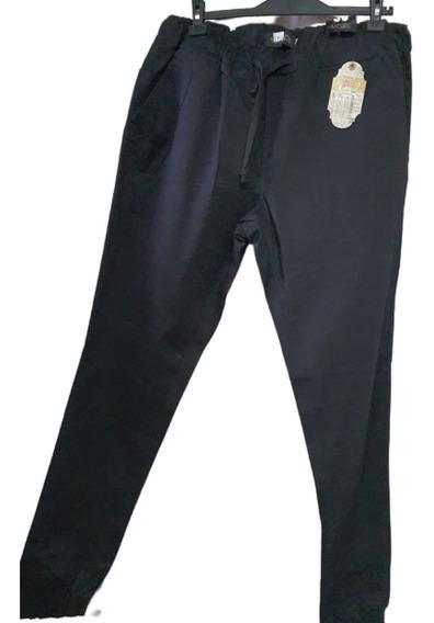 Pantalon Babucha De Gabardina Elastizada T. 50- Hombre