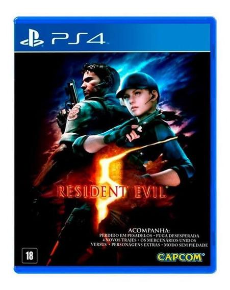 Resident Evil 5 Ps4 Jogo Mídia Física Lacrado Original
