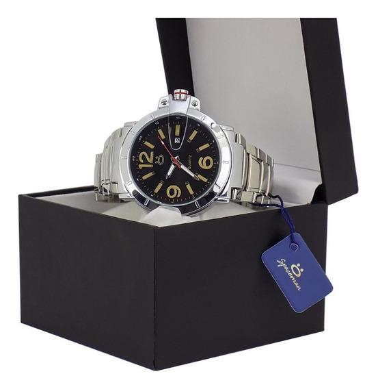 Relógio Masculino Spaceman Original Prata Barato+ Caixa Nf-e