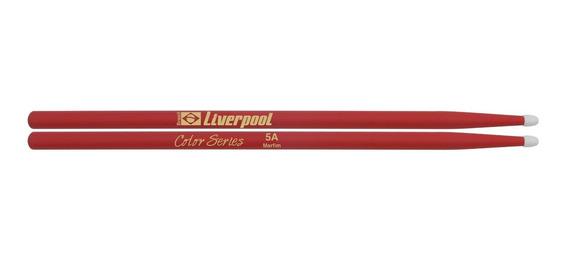 Baqueta 5a Color Ponta De Nylon Marfim Liverpool Lc 5an