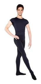 Roupa De Ballet Masculino Danca Camiseta E Calça Com Pé