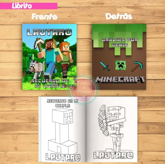 Kit Imprimible Librito Para Colorear - Minecraft
