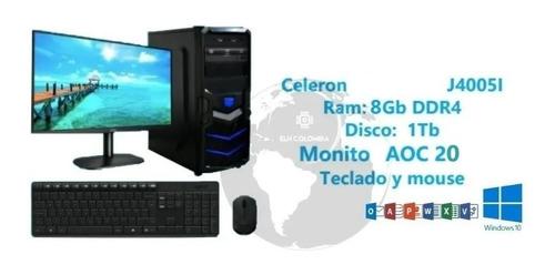 Computador Pc Celeron Hdd 1tb 4gb Ddr4 Fte 300w W10 Wifi Dvd