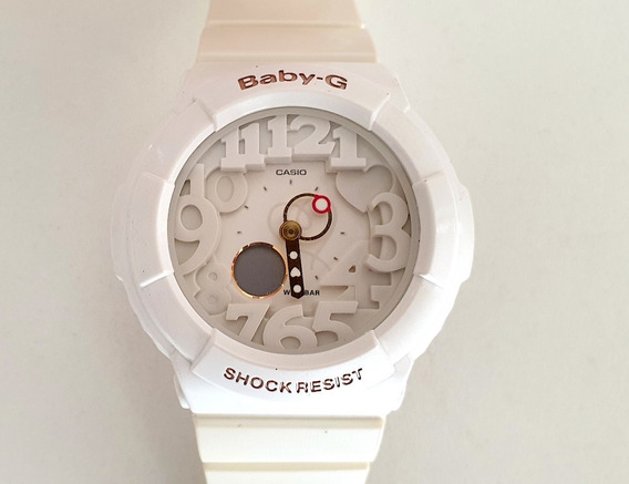Casio Baby-g Bga-131 Branco - Neon Dial