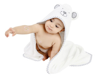 Toalla De Baño Para Bebe Con Capucha De Bambú Orgánico