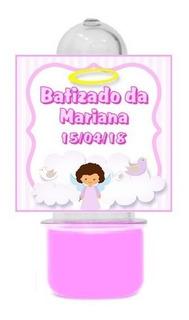 50 Mini Tubete Batizado Menina Lembrancinha Personalizada #
