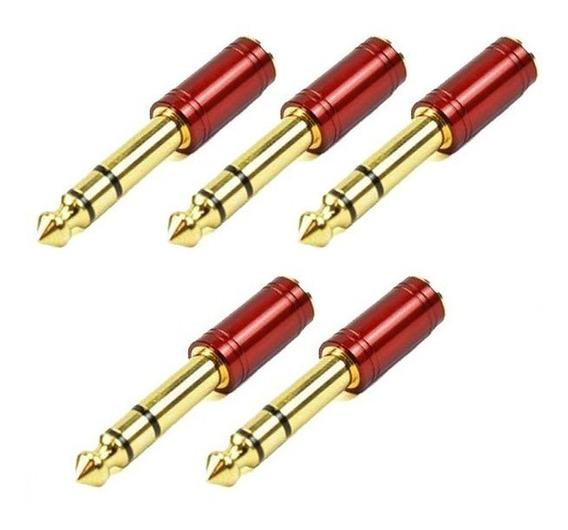 5 Plugs Adaptador Santo Angelo P2/p10 Stéreo