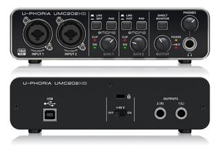 Placa De Audio Interfaz Behringer Umc202 Hd 2 Canales