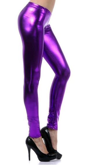 Leggings Vinipiel Metalizado Sexy Vinil Latex Fiusha Colores