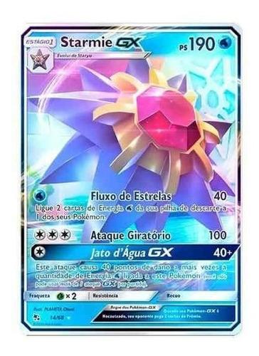 Carta Pokémon Destinos Ocultos Starmie Gx Sl11.5