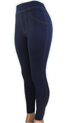 Imagen 1 de 3 de Leggings Tipo Mezclilla Mallon Mujer Licra Unitalla
