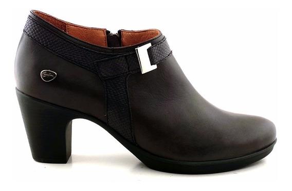 Botineta Mujer Taco Cuero Cavatini Zapato Confort Mccz03405