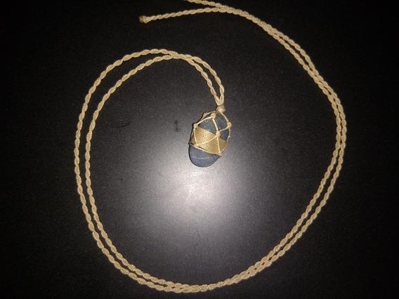 Colar Hippie Pedra Semi-preciosa Castroado Diferenciado.