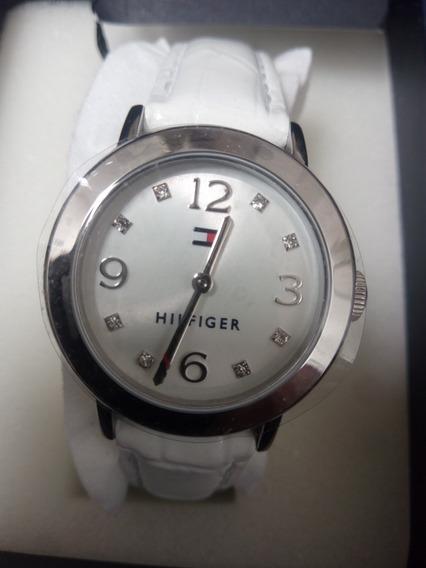 Reloj Tommy Hlfiger Blaco Dama Nuevo! Envío Gratis
