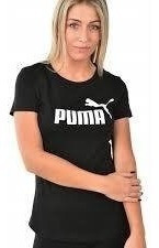 Puma Remera Ess Logo W Negra