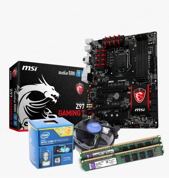 Kit I7 4790k + Placa Mãe Msi Z97 Gaming 7 + 8gb Memoria Ddr3