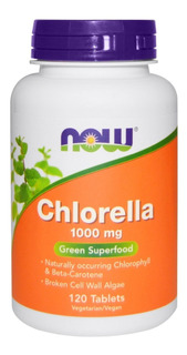 Chlorella - Clorela - 1000mg 120 Cap - Now - Pronta Entrega