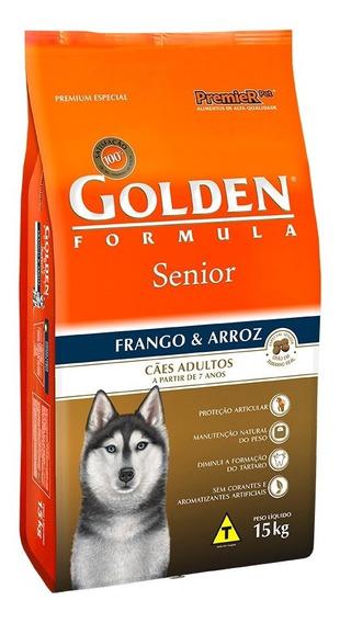Ração Premier Golden Formula Cães Sênior Frango E Arroz 15kg