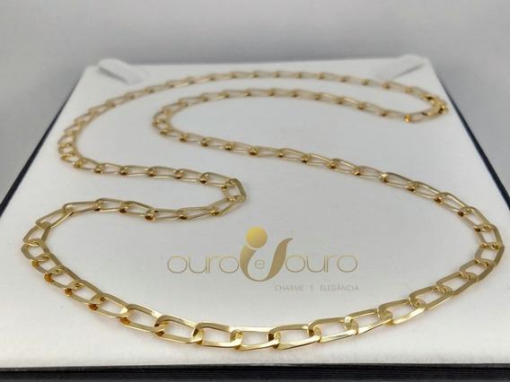 Cordão Masculino Ouro 18k Top Laminado Reforçado 8,5gr 60cm