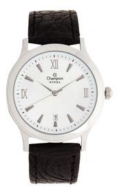 Relógio Champion Original, Novo, Pulseira Couro Ca20572q