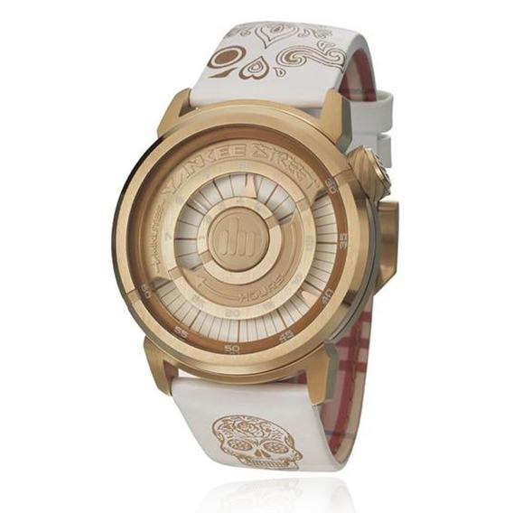 Relógio Feminino Yankee Street Branco-rosê Ys30256b Couro