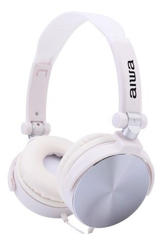 Audífonos Alambricos Aiwa Stereo Dinamic Blanco Tienda F.