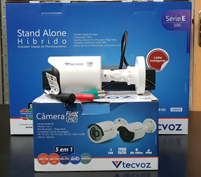 Kit 04 Câmeras Tecvoz Bullet 720p 1mp 2,8mm+ Dvr 04 Canais