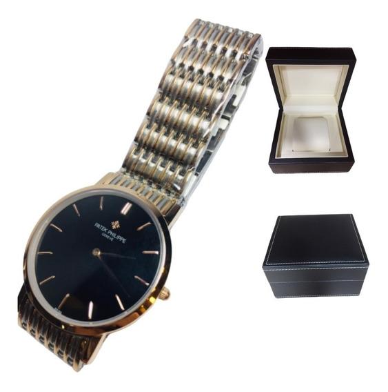 Relógio Patek Philippe - Caixa De Couro Top