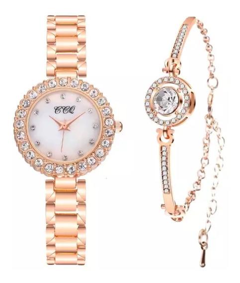 Relógio Feminino Dourado Ouro