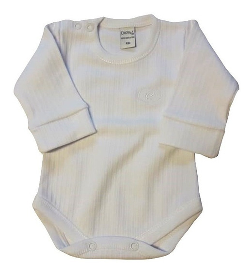 Body Bebe Interlock Desagujado Broche En Hombro 100 % ALG