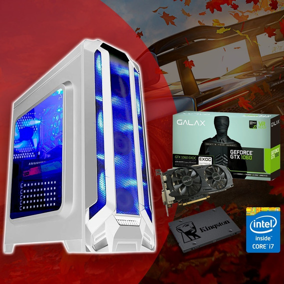 Desktop Gamer Intel Core I7 + Gtx1060 6gb + 240gb Ssd C/ Nf