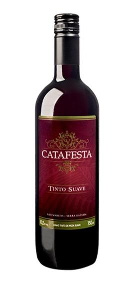 Vinho Tinto De Mesa Suave Tradicional Catafesta 750ml