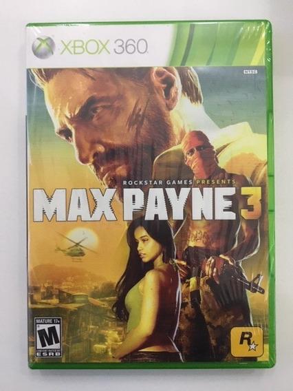 Max Payne 3 Xbox 360 Disco Fisico