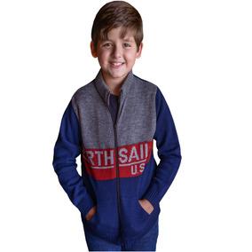 Jaqueta Infantil Azul Marinho Blusa De Frio Casaco Criança