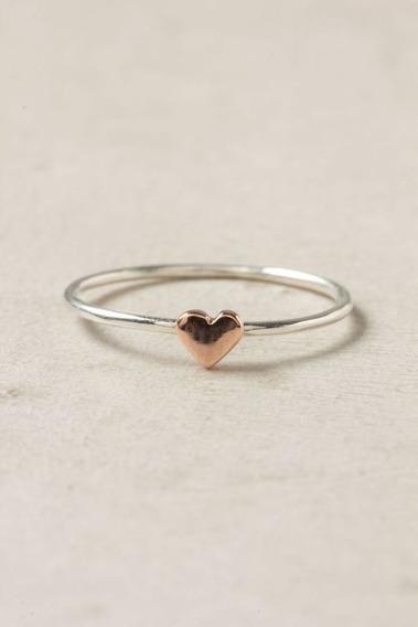 Anel Em Prata 950 Com Coração