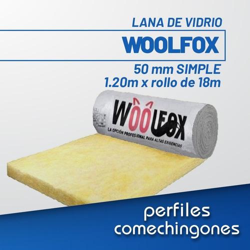 Lana De Vidrio 50 Mm 1.20 X Rollo De 18 Metros (woolfox)