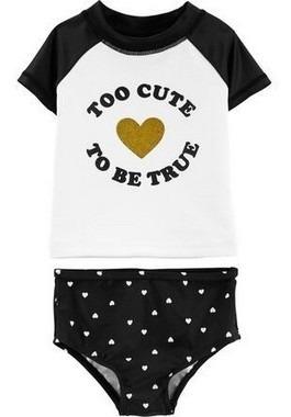 Biquini Camiseta Praia Piscina Carters Proteção Solar Menina