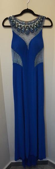 Vestido Largo Para Fiesta Morrell Maxie Talla 8 Azul