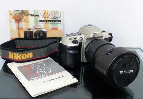 Camara Nikon N60 35mm + Cañon Tamron 3,8-5,6/28-200mm
