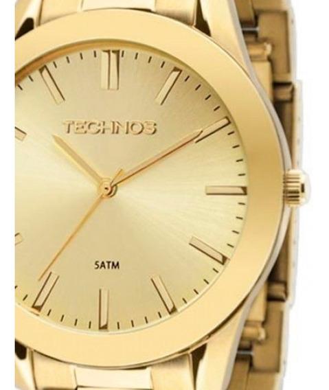 Relógio Technos Feminino Dourado Classic Steel 2035lrp/4x Original C/ Garantia Promoção