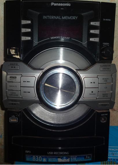 Frente Completa Com Placa Panasonic Micro System Sa-akx56