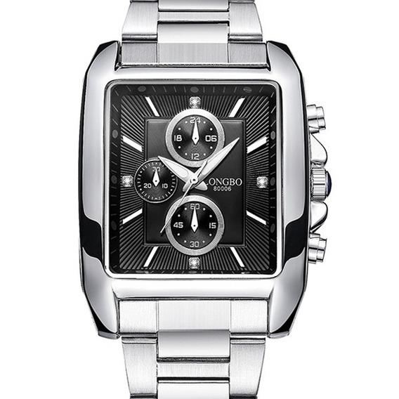 Longbo 80006 Homens Relógio Aço Cinta Liga Caso Luminoso Mod